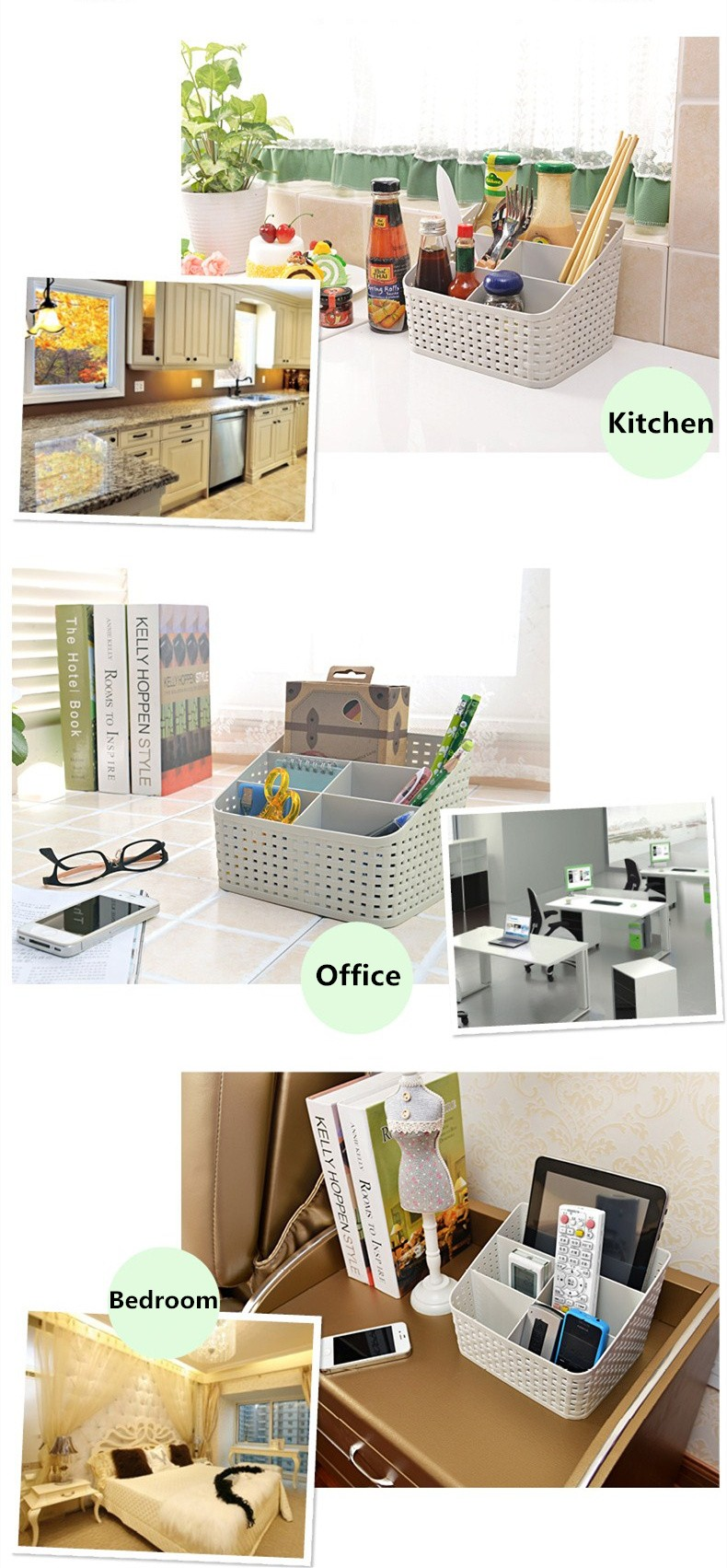 Simple life Desktop sundries pen pencil storage basket organizer vintage container storage basket plastic box storage box 3