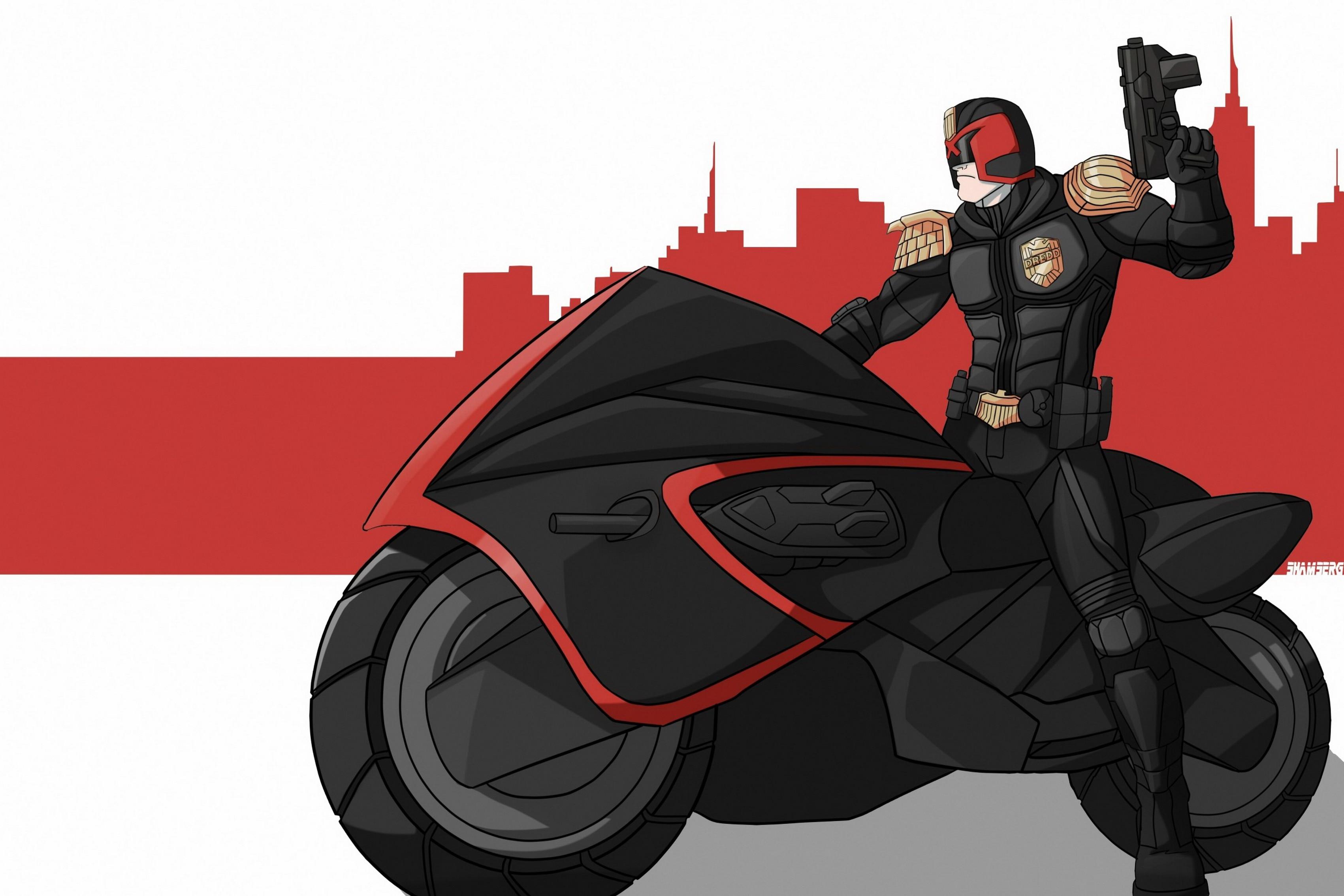 Home decoration fantasy motorcycle bike helmet gun art Silk Fabric Poster Print AT066