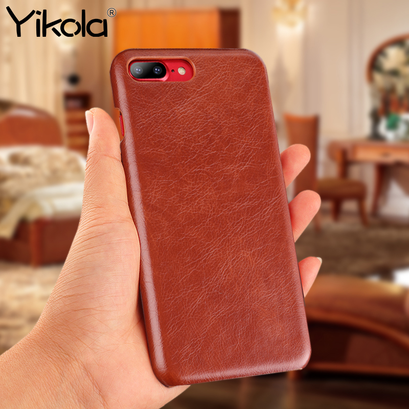 Yikola Buffalo Pattern Phone Case For iPhone X 10 7 8 6 6S PU Leather Back Cover For iPhone 7 8 6 Plus Free Shipping Phone Shell