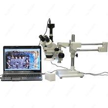 Big discount Zoom Magnification Microscope–AmScope Supplies 7X-45X Zoom Magnification Stereo Microscope w 64-LED Light + USB Digital Camera