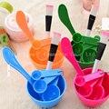 Women Beauty Set 4 in 1 DIY Facial Mask Tool Face Mask Bowl+ Stir Stick + Mask Brush + Measuring Spoon Makeup Tool Kits