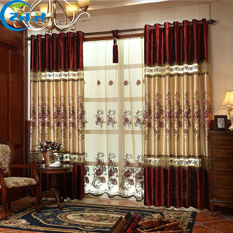 Blackout Curtains For Living Room Hotel European Simple: ZHH (Single Panel) Curtain For Living Room/Bedrooms Hotel