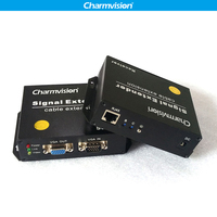 Charmvision EKU300HR 300 meters USB keyboard USB mouse VGA KVM Extender with 2 USB A type for CCTV Computer Management