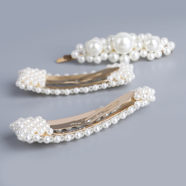 Stylish Handmade Pearl Hair Clip for Women (13 Types)