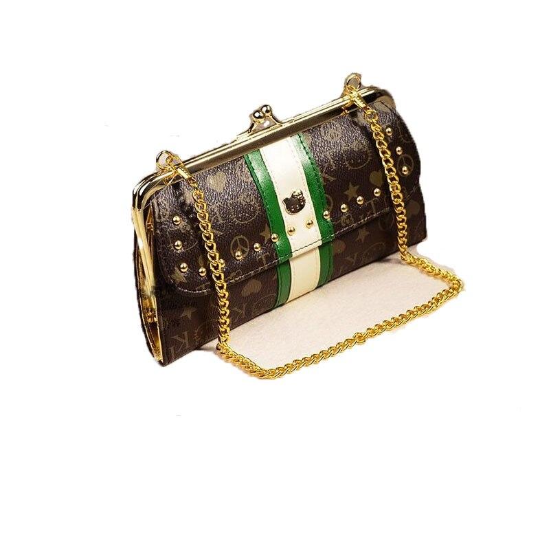 c8b436517 Hello Kitty Women Shoulder Bag Brown Fashion Designer Handbags High Quality Cute  Small Cat Bag Japan genuine crossbody bag-in Top-Handle Bags from Luggage &  ...