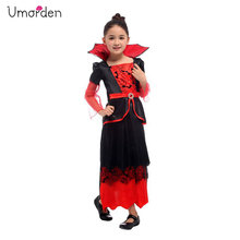 Umorden Halloween Vampiress Costume Girls Kids Vampire Cosplay Easter Christmas Purim Party Fancy Dress for Girl Children