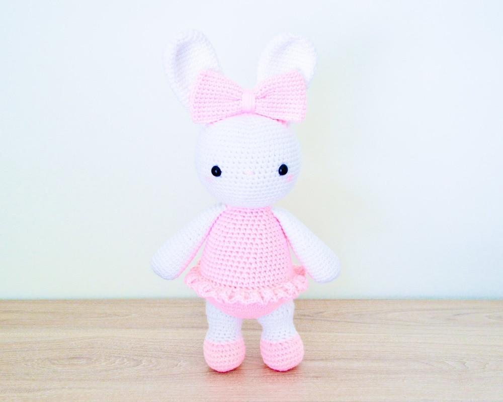 Crochet Toys  Amigurumi  Ballerina Bunny  Doll  Girl Number  WS0013