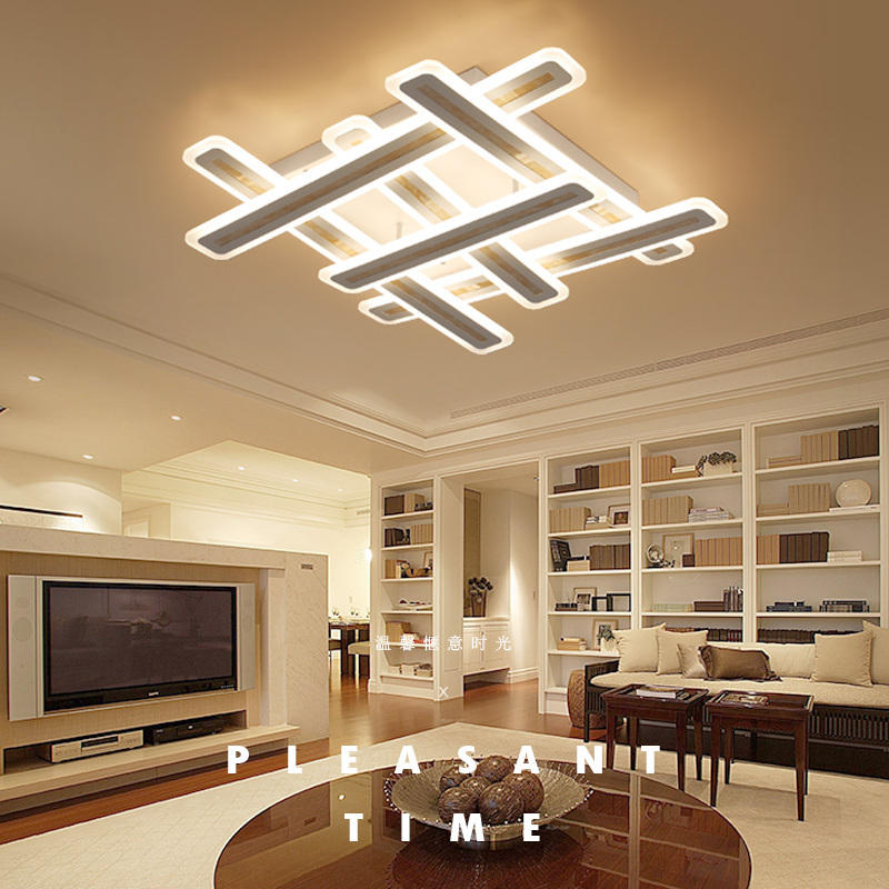 Rectangle acrylic modern led ceiling lights for living room bedroom lamparas de techo colgante square led ceiling lamp fixture ...