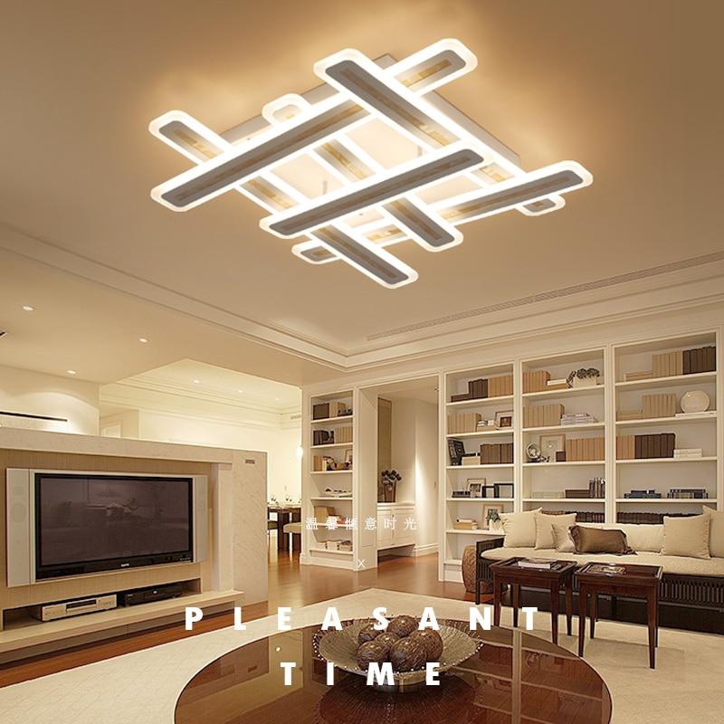 Rectangle acrylic modern led ceiling lights for living room bedroom lamparas de techo colgante square led ceiling lamp fixture ...