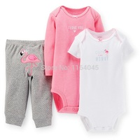 GSLL3 036 Original Baby Girls 3 Piece Set With 2 Pieces Bodysuits And 1 Piece Pants