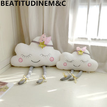Nordic Style Cloud Pillow Cushion Baby Comfort Toy Home Sofa Children Room Bay Window Decoration