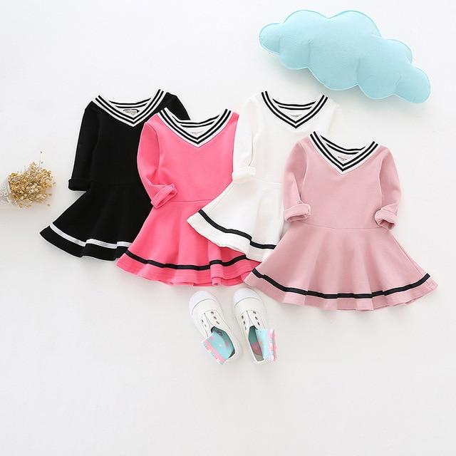 2092bb4d0c9 Enfants Costumes Filles Douce Princesse Robe Bébé Fille L école V Cou Robes  pour la