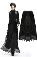 Darkinlove Gothic Elegant Lace Sexy Party Skirt Steampunk Retro Party Long Skirt