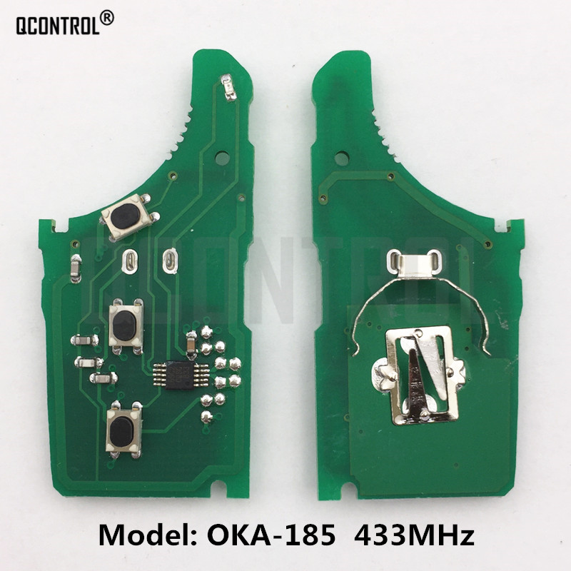QCONTROL Car Remote Control Key Circuit Board for KIA OKA-185T Vehicle Alarm 433MHz Transmitter ASSY 433-EU-TP CE <font><b>0682</b></font> image