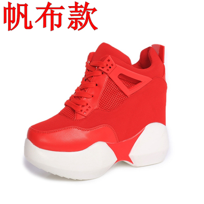 2016 spring and autumn of the new Korean version of the high-end high-heeled shoes with 11CM increase in casual shoes,