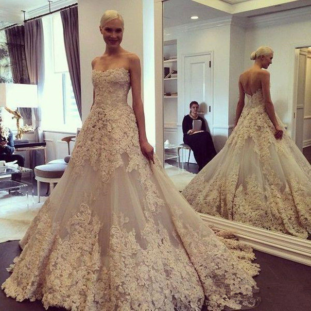 Most Elegant Wedding Dresses 2016 White/Ivory off the Shoulder Lace ...