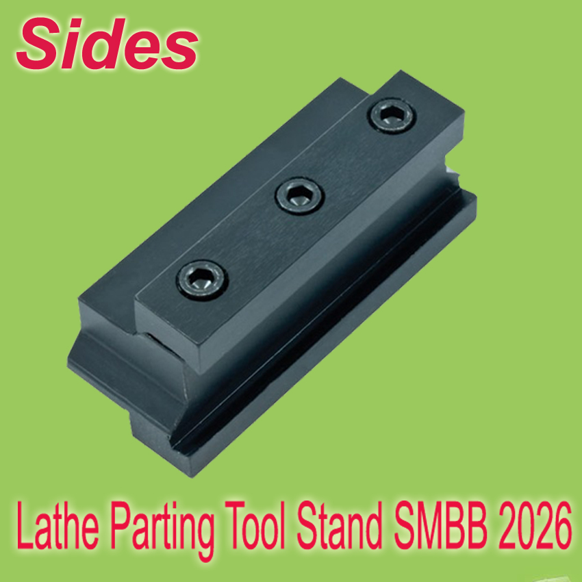 Free Shiping  SMBB 2026  Part Off  Block Indexable Parting Off Tool Stand Holder 20mm High Blade 26mm Tool Post  For Lathe 2x12mm lathe parting cutting milling tool holder with 5 blades 200mm