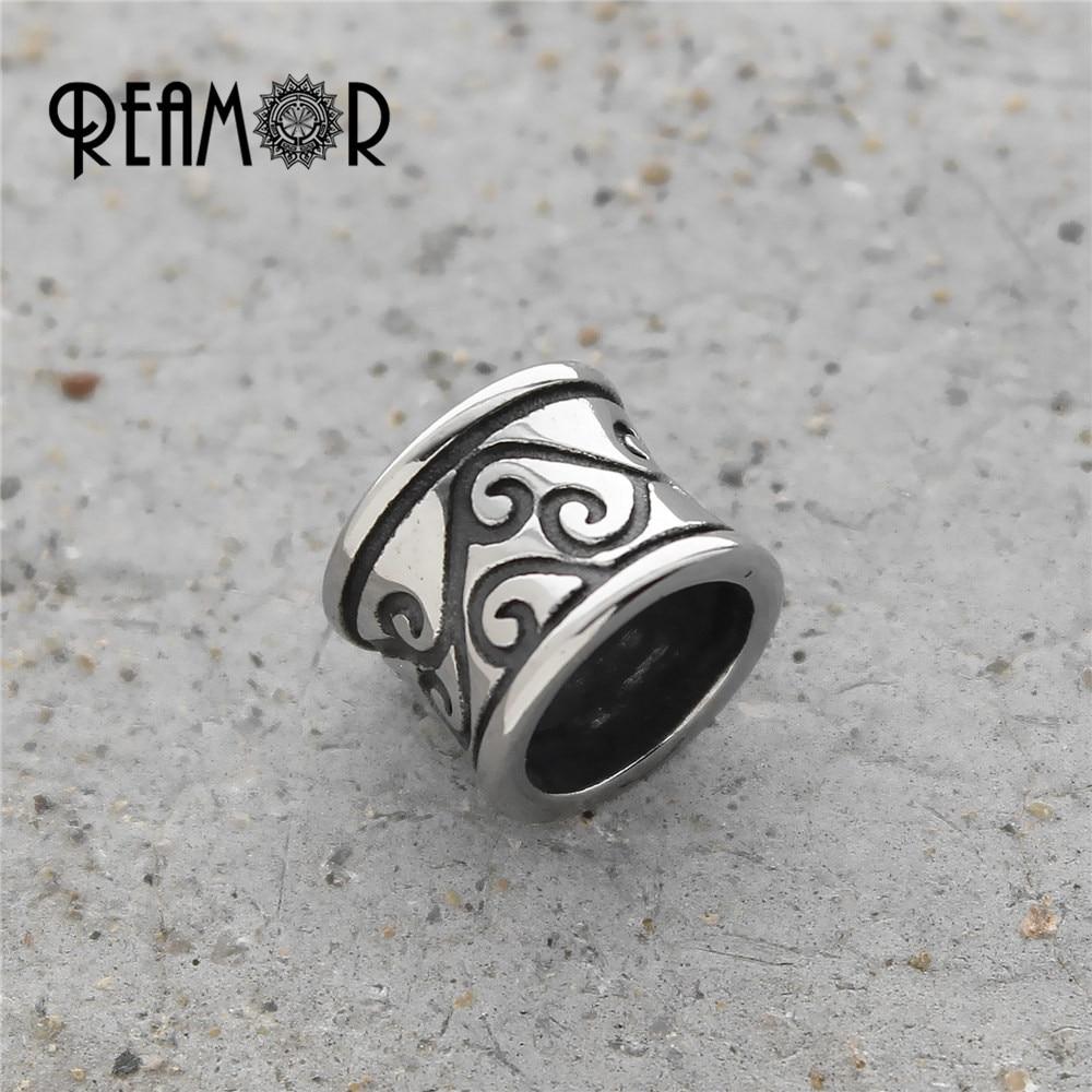 REAMOR Totem Style 316l nerjaveče jeklo 8 mm velike luknje evropske - Modni nakit - Fotografija 2