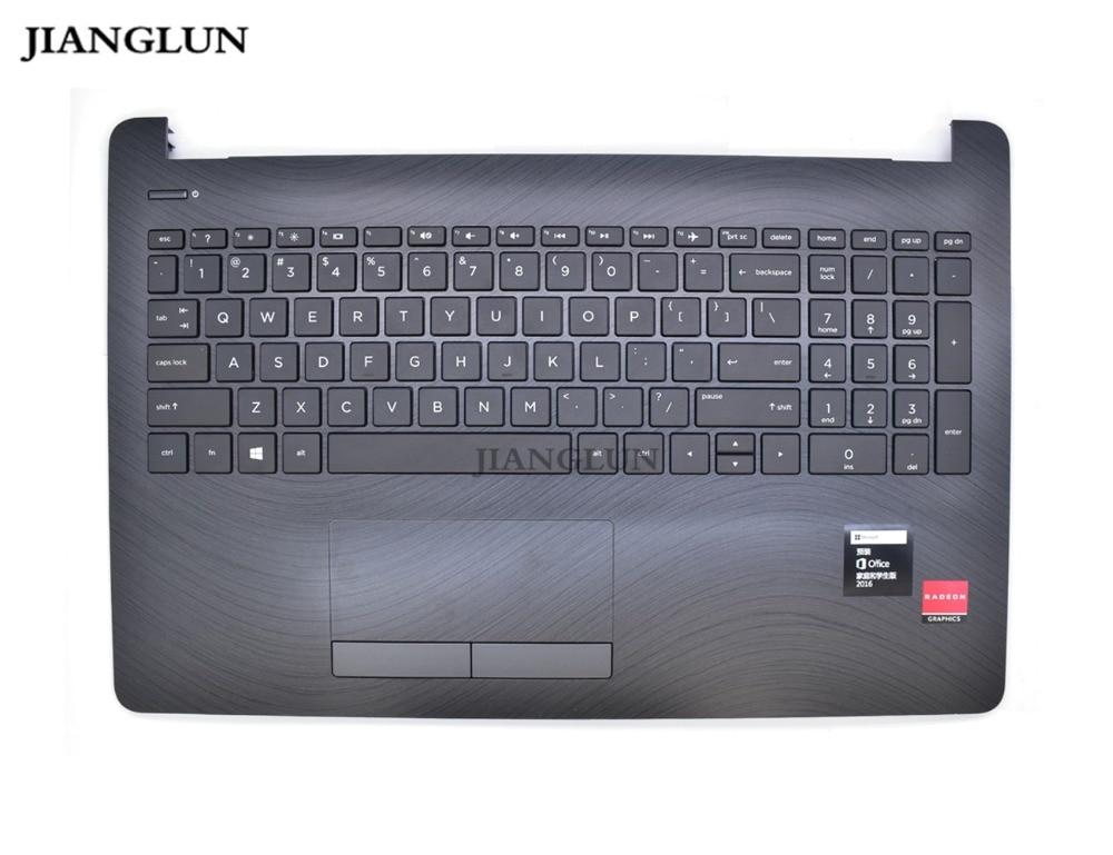 все цены на JIANGLUN Laptop Palmrest Topcase With Keyboard With US Layout Keyboard For HP 15-BS522TX онлайн