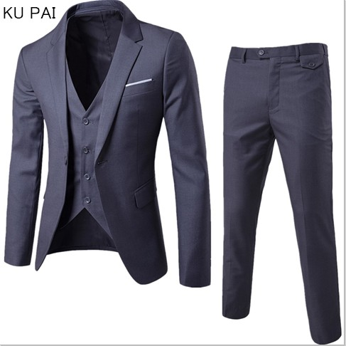 (Jacket + pants + vest) Luxury For Men Wedding Suit Men's Jackets for Women Slim Fit Costumes for Men Costume Business official