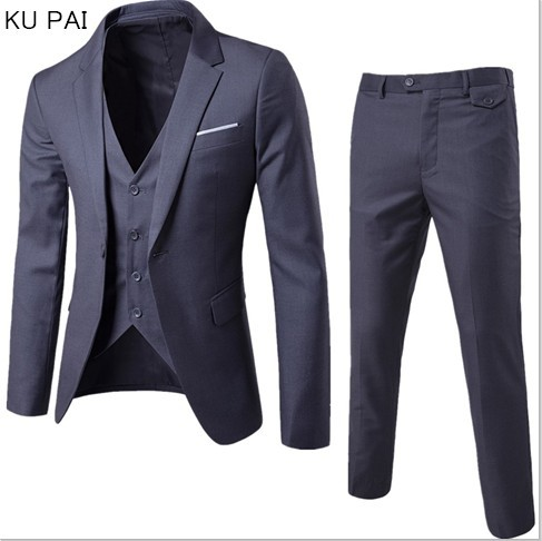 (Jacket + pants + vest) Luxury For Men Wedding Suit Men's Jackets for Women Slim Fit Costumes for Men Costume Business official