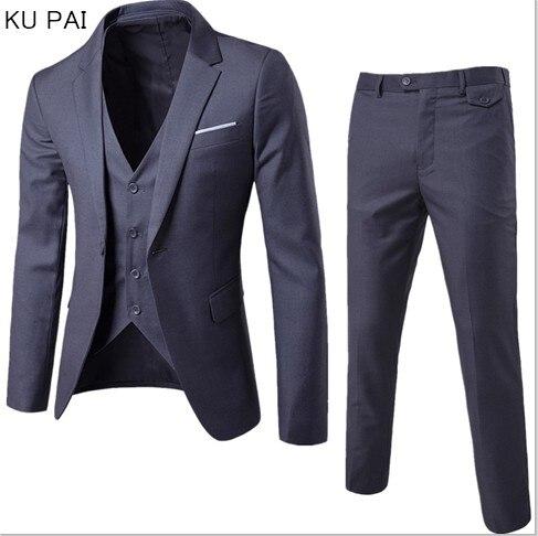 (Куртка + Штаны + жилет) роскошь для Для мужчин Свадебный костюм Для мужчин Куртки для Для женщин Slim Fit костюмы для Для мужчин костюм Бизнес оф...