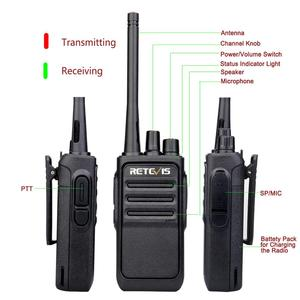 Image 2 - A Pair Retevis RT617/RT17 Walkie Talkies PMR Radio PMR446/FRS VOX USB charging Handy 2 Way Radio station Comunicador Transceiver