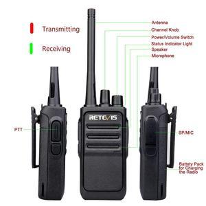 Image 2 - A 쌍 Retevis RT617/RT17 워키 토키 PMR 라디오 PMR446/FRS 복스 USB 충전 핸디 2 웨이 라디오 방송국 Comunicador 송수신기