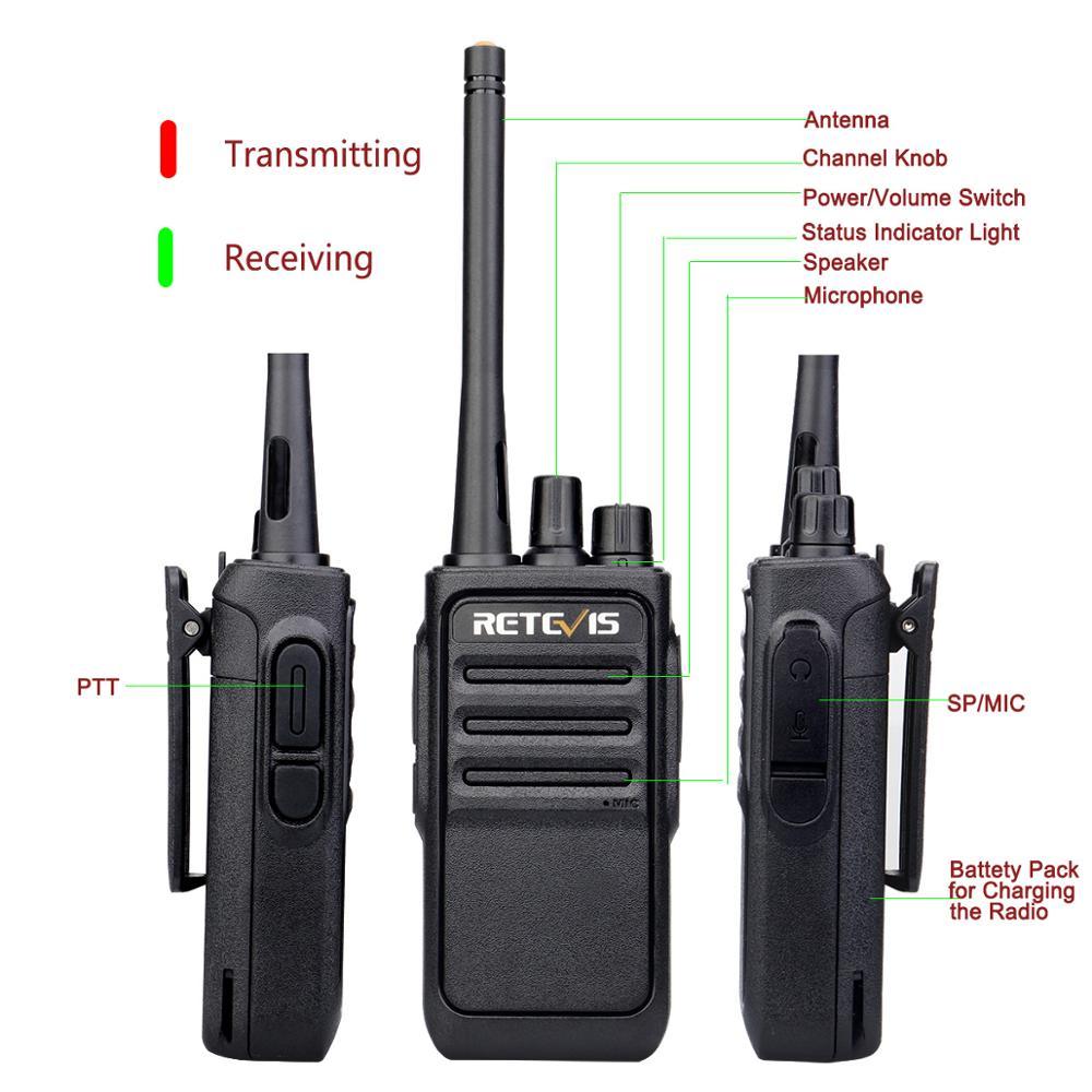Image 2 - Un par Retevis RT617/RT17 Walkie Talkies PMR Radio PMR446/FRS VOX USB carga práctica 2 vías Radio estación Comunicador transceptorTransceptor   -