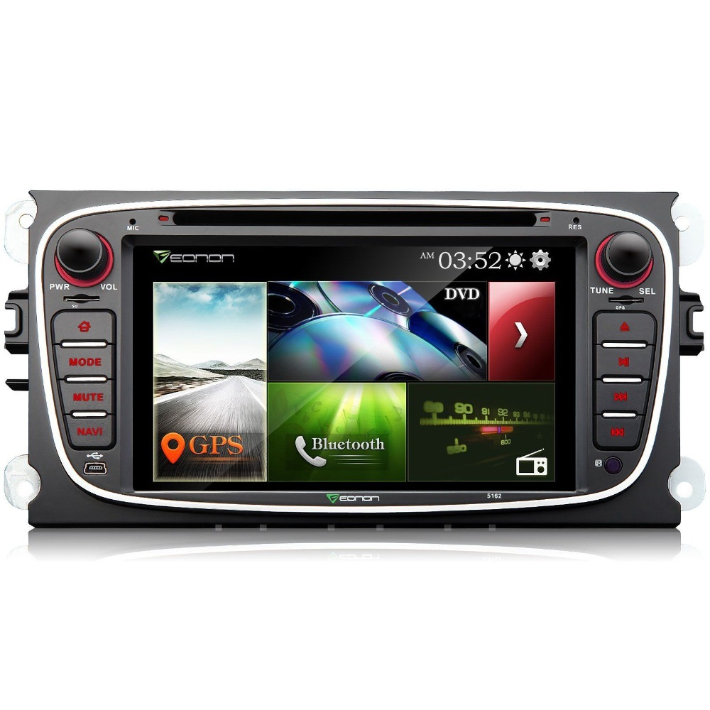Eonon 7 2 Дин DVD плеер GPS навигатор для Ford Mondeo Focus S-MAX видео Canbus Bluetooth fm Авторадио media авто стерео