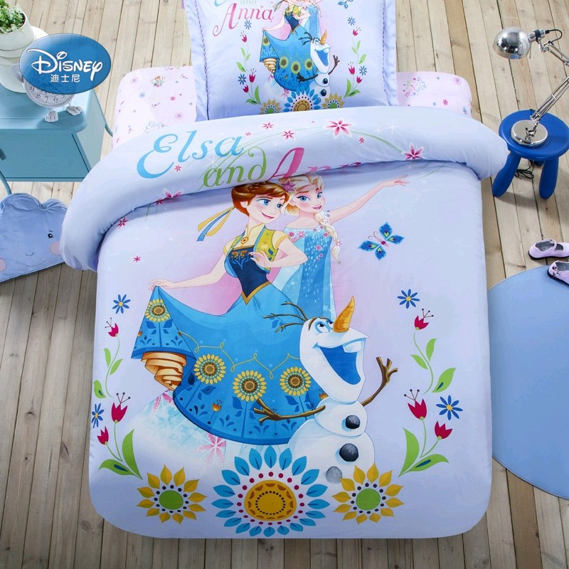 Cheap Bedroom Sets Kids Elsa From Frozen For Girls Toddler: Disney Blue Elsa And Anna Bedding Set Children Bedroom