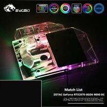 Bykski غطاء كامل وحدة معالجة الرسومات كتلة المياه ل ZOTAC GeForce RTX2070 8GD6 MINI OC بطاقة جرافيكس AURA مزامنة N ST2070MINI X