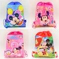 Mickey Mouse Kids Birthday Party Favors Regalos Minnie bolsos de Lazo Bolsas de Tela No Tejida Del Bebé Ducha Decoración Suministros 1pcs \ lot