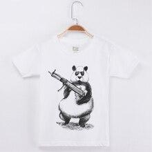 New Arrival Children T-shirt Funny Panda Printing Top Cotton Child Tees Shirt Boy Short T Shirts For Girl Kids O-Neck Clothes цены