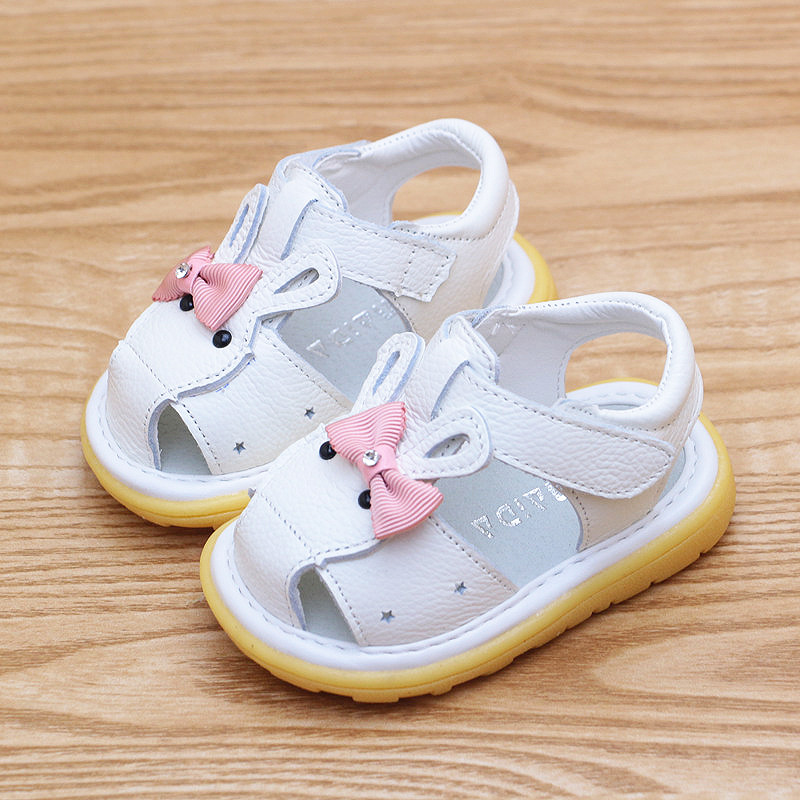 Soft Rubber Sole Genuine Leather Baby Girls Summer Shoes Infant Toddler First Walkers Bebe Prewalkers