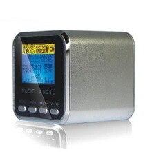 Музыка Ангел JH-MD08D ЖК-дисплей цифровые колонки Поддержка MicroSD/TF карты/линейный mp3-плеер мини FM радио часы будильник
