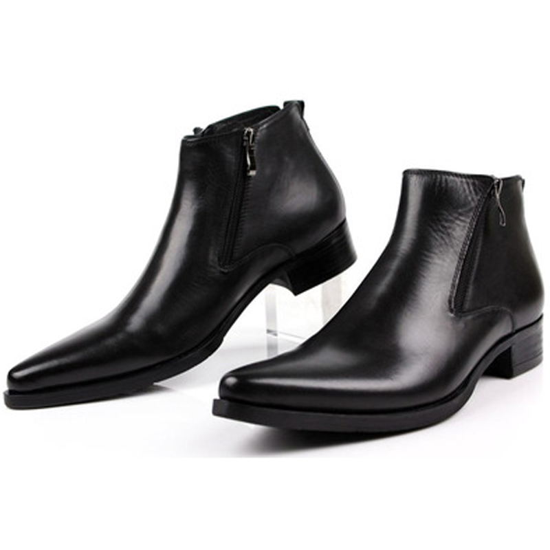 Energetic Otto New Spring/autum Mens Chelsea Shoes Boots Handmade Genuine Leather Ankle Zipper Boots Oxford Casual Shoes Pointed Toe Grade Products According To Quality Men's Boots