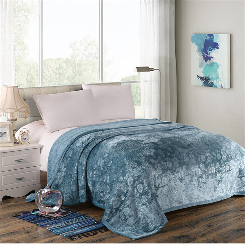 Printing Luxurious Large Warm Thick Sherpa Throw Blanket Coverlet Reversible Fuzzy Microfiber All Season Plaid for