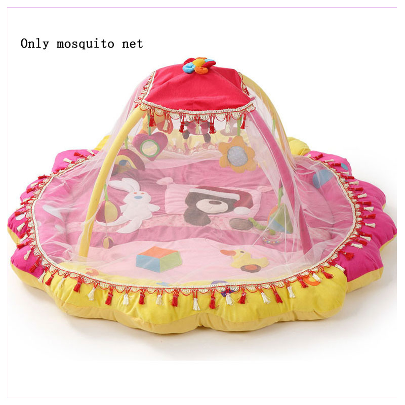 Baby Activity Gym Playmat Game Blanket Baby Cot Mobile Bed Game Blanket Special Mosquito Net Baby Activity Play Mat 140*140 CM