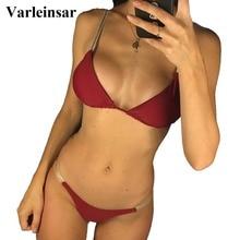 New Sexy Shiny High Cut 2019 Bikini Women Swimwear Female Swimsuit Two-pieces Brazilian Bikini set Bather Bathing Suit Swim V745