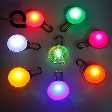 Четырехместный светодиодный брелок в виде шара для кошек, собак, домашних животных, ошейник с пряжкой, безопасный мигающий светильник для кемпинга, светодиодный светильник с зажимом, новинка, мигающий светильник s