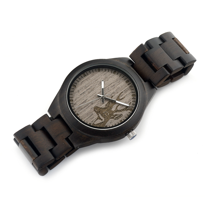 BOBO BIRD Wood Watch Quartz Movement Luminous Hands Men Clock Wooden Strap Wristwatch relogio masculino B-I26 bobo bird luxury designer watches men style wooden watch wood strap wristwatch with paper gift box relogio masculino brand top
