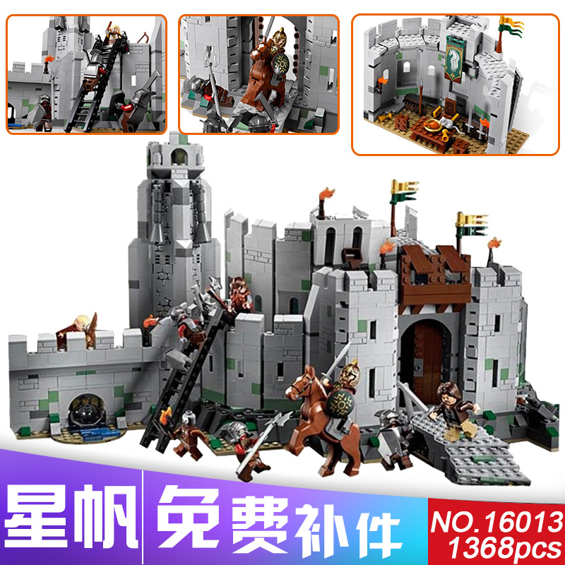 LEPIN 16013 The Lord of the Rings Series The Battle Of Helm' Deep Model Building Block Bricks figures Compatible 9474 hot sale фанатская атрибутика nba