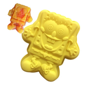 Cartoon Karakter Enkele Spongebob Squarepants Spons Bakken Pan Siliconen Cakevorm Hoge Kwaliteit Materialen Handgemaakte Zeep Schimmel