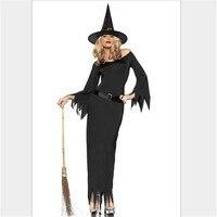 15 Halloween Elegant Sexy black dress Witch Costume Vampire deliberate Vixen fairy tale devil installed cosplay Women's costume