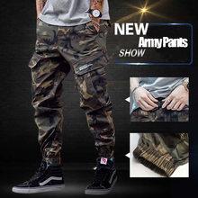 ae4e67c1bc Moda clásico ejército Pantalones High Street algodón Vaqueros hombres  basculador Pantalones marca diseñador gran bolsillo Militar · 2 colores  disponibles