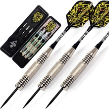CUESOUL 24 Grams Steel Tip Darts Dart Set With Dart Shaft,Fire Dart Flight,Dart Case