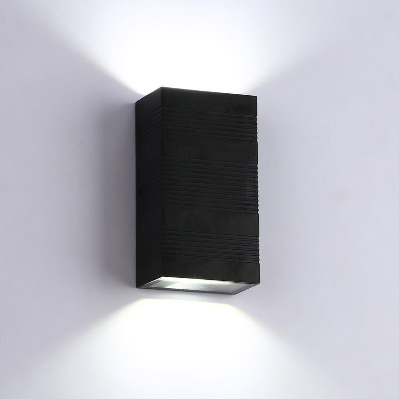 Popular Brand Waterproof Cube Cob Led Wall Lamp Modern Home Lighting Decoration Outdoor Cuboid Style Wall Light Aluminum 6w/12w Ac85-265v Led Lamps