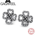 GAGAFEEL  Zircon Real 925 Sterling Silver Earrings Clover Earrings for Women Girls Female Wholesale Price High Quality