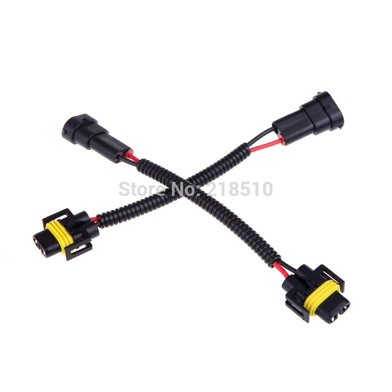 online get cheap wiring harness connectors aliexpress com 2pcs h8 h9 h11 wiring harness socket car wire connector cable plug adapter for hid led